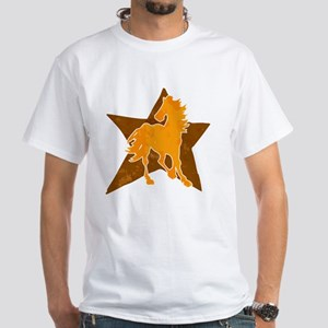 Horse star White T-Shirt