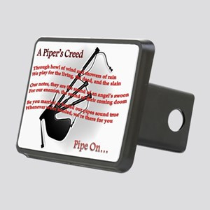 Piper's Creed (White) Rectangular Hitch Cover