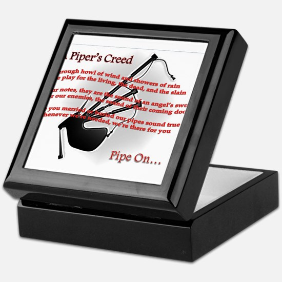 Piper's Creed (White) Keepsake Box