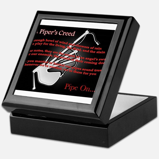 Piper's Creed (Black) Keepsake Box
