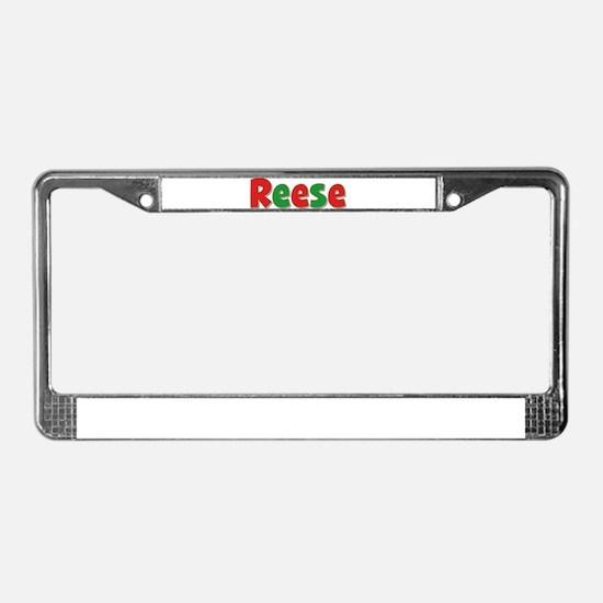 Reese Christmas License Plate Frame
