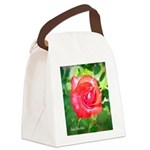 Fiery Rose Canvas Lunch Bag