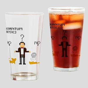 Pixel Schrödinger Drinking Glass