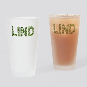 Lind, Vintage Camo, Drinking Glass