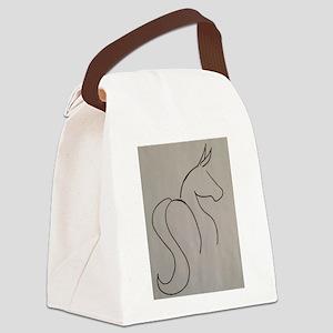 Mule outline Canvas Lunch Bag