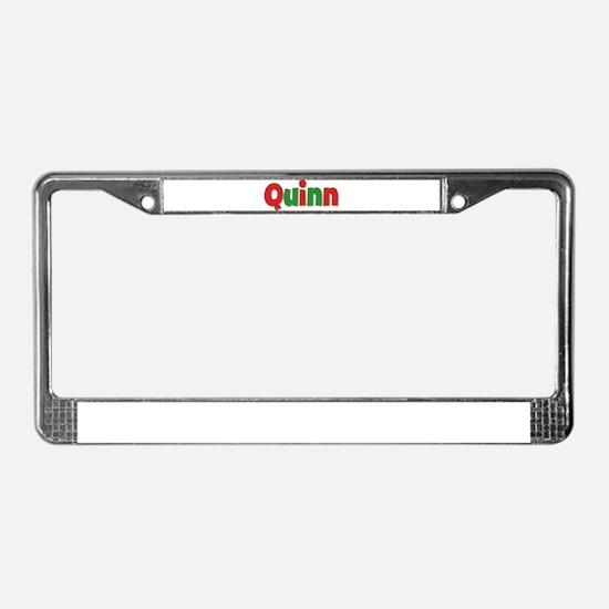 Quinn Christmas License Plate Frame