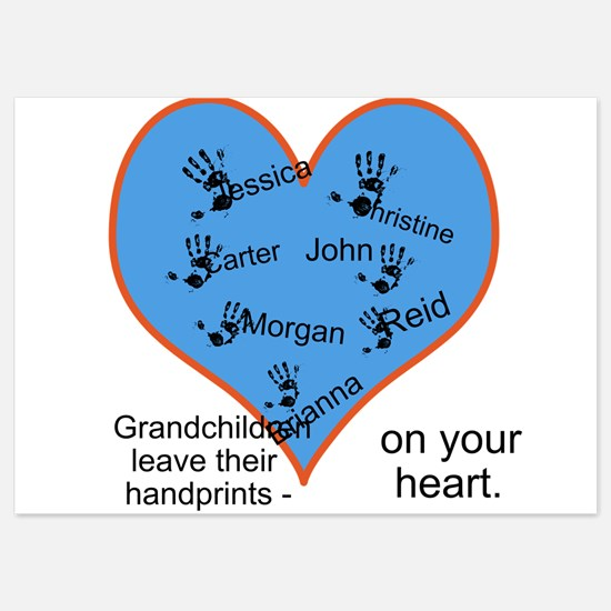 Handprints on your heart - 7 kids Invitations
