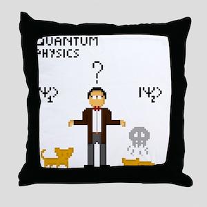 Pixel Schrödinger Throw Pillow
