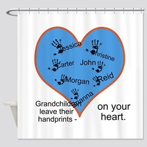 Handprints on your heart - 7 kids Shower Curtain