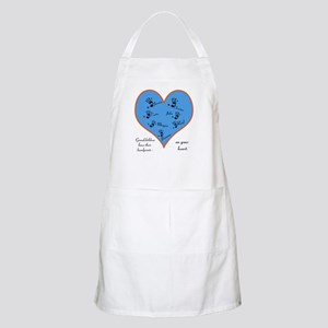 Handprints on your heart - 7 kids Apron