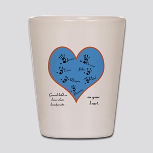 Handprints on your heart - 7 kids Shot Glass