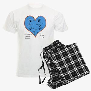 Handprints on your heart - 7 kids Men's Light Paja