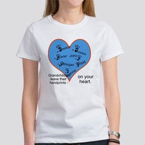 Handprints on your heart - 7 kids Women's T-Shirt