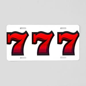 777 Aluminum License Plate