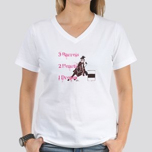 3 Barrels, 2 Hearts, 1 Dream Women's V-Neck T-Shir