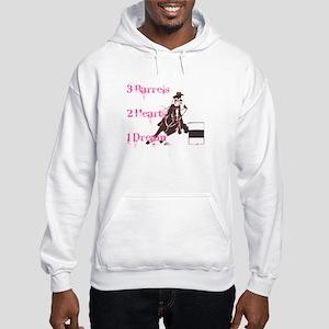 3 Barrels, 2 Hearts, 1 Dream Hooded Sweatshirt