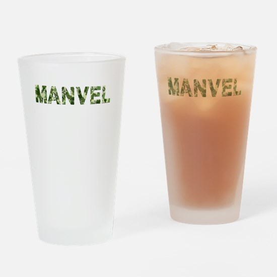 Manvel, Vintage Camo, Drinking Glass