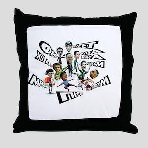 ?? gkoalaki piou ( ?? ????a?? p???) Throw Pillow