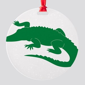 Aligator Round Ornament