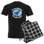 T-Rex Hates Push-ups Men's Dark Pajamas