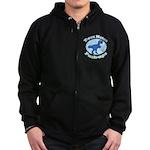 T-Rex Hates Push-ups Zip Hoodie (dark)