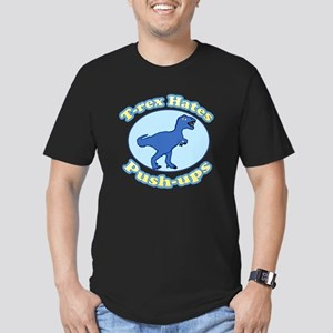 T-Rex Hates Push-ups Men's Fitted T-Shirt (dark)