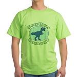 T-Rex Hates Push-ups Green T-Shirt