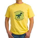 T-Rex Hates Push-ups Yellow T-Shirt