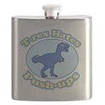 T-Rex Hates Push-ups Flask