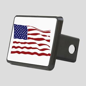 USA Flag Rectangular Hitch Cover