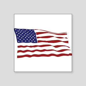 """USA Flag Square Sticker 3"""" x 3"""""""