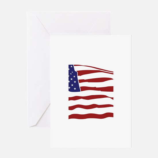 USA Flag Greeting Card