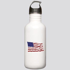 USA Flag Stainless Water Bottle 1.0L