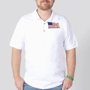 USA Flag Golf Shirt