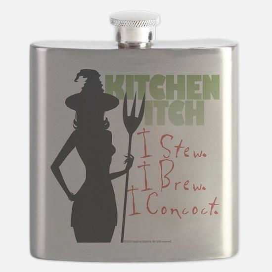Kitchen Witch.1 Flask