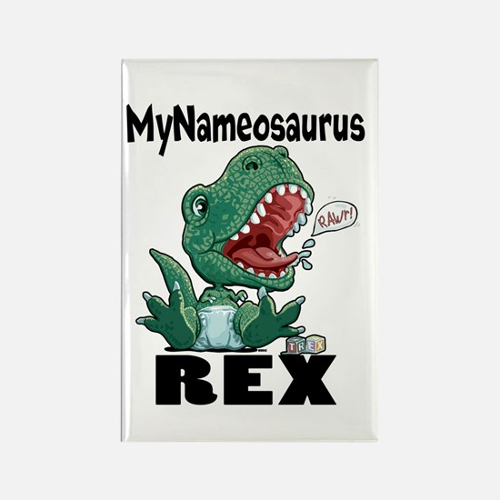 Personalizable T-Rex Rectangle Magnet
