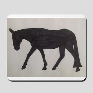 Mule outline Mousepad