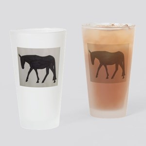 Mule outline Drinking Glass