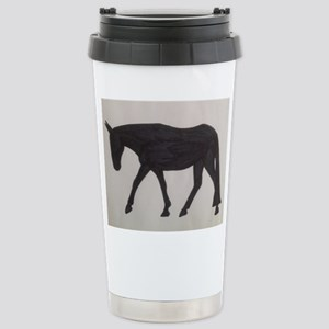 Mule outline Stainless Steel Travel Mug