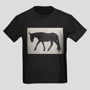 Mule outline Kids Dark T-Shirt