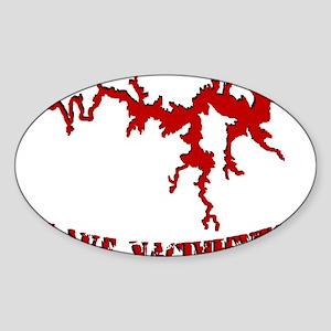 NACI_823_CRIMSON Sticker (Oval)