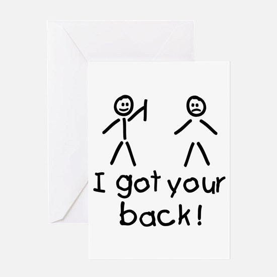 I Got Your Back Silly Greeting Card