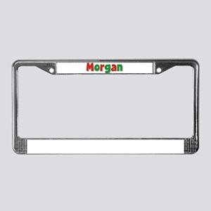 Morgan Christmas License Plate Frame