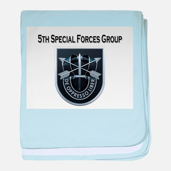 5th Special Forces Group baby blanket
