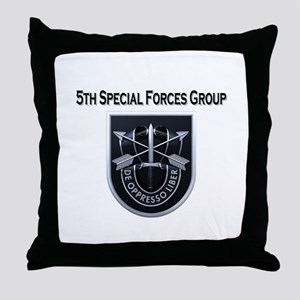 5th Special Forces Group Throw Pillow
