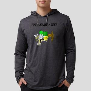 Custom Bee Going To Work Mens Hooded Shirt