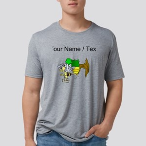 Custom Bee Going To Work Mens Tri-blend T-Shirt