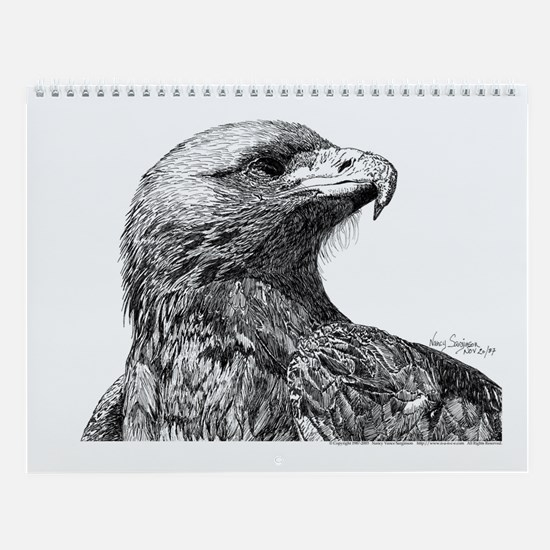 Eagle Wall Calendar 13 Pen and Inks