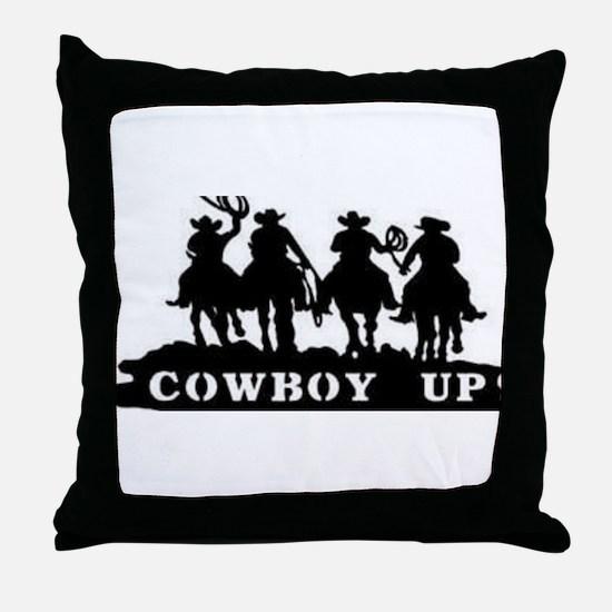 Cowboy Up Throw Pillow