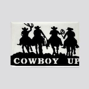 Cowboy Up Rectangle Magnet